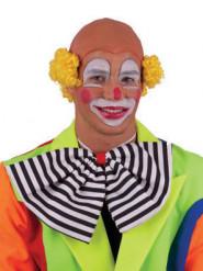Clownperücke Glatze gelb für Erwachsene