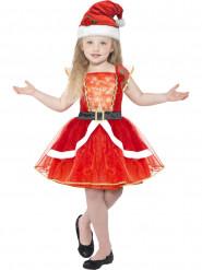Leuchtendes Weihnachtsfrau Kostüm für Mädchen