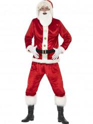 Nikolaus Komplett-Kostüm mit Bart für Erwachsene