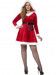 Weihnachtskostüm rot mit Schleife für Damen