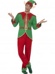 Weihnachtskobold Fantasy-Kostüm grün-rot