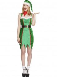Weihnachtselfe Kostüm für Damen