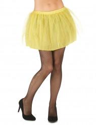 Tutu mit Tüll Minirock für Damen gelb