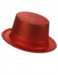 Party-Hut mit Glitzer für Erwachsene rot