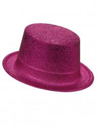 Glitzernder Party Zylinder für Erwachsene pink
