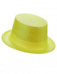 Glitzer-Zylinder für Erwachsene gelb
