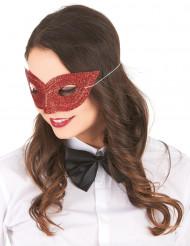 Glitzer-Maske für Erwachsene rot