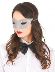 Venezianische Maske für Erwachsene silber