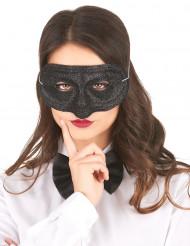 Glitzer-Maske für Damen schwarz