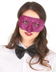 Glitzermaske für Damen dunkelpink