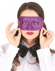 Glitzernde Augenmaske für Damen lila