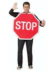Stopschild Kostüm für Erwachsene