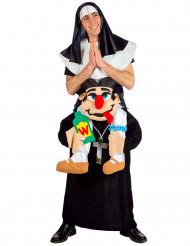 Lustiges Nonnen und Pfarrer Kostüm für Erwachsene