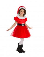 Weihnachtsfrau Premium-Kostüm für Mädchen