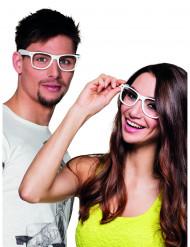 4 weiße Brillen für Erwachsene