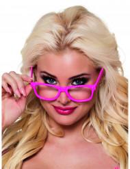 Vier Brillen für Erwachsene in Neon-Pink