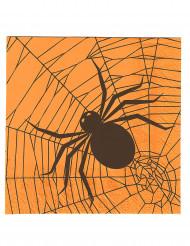 20 Halloween-Servietten aus Papier mit Spinnen-Motiv