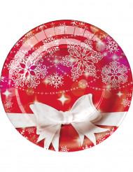 8 Weihnachtsteller aus Pappe