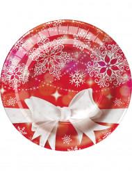 8 kleine weihnachtliche Pappteller 18 cm