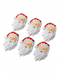 Kleine Weihnachtsmannköpfe zum Aufkleben