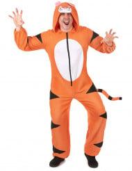 Tiger-Kostüm für Erwachsene orangefarben-schwarz-weiss