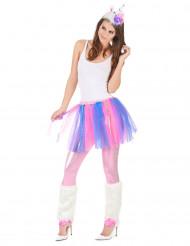 Buntes Einhorn-Kostüm für Erwachsene