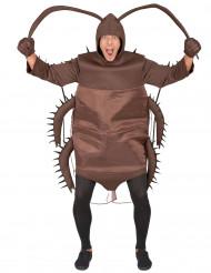 Kakerlaken-Kostüm für Erwachsene braun
