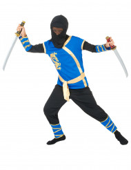 Blau-schwarzes Ninja-Kostüm