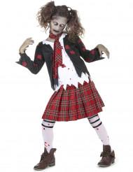 Zombie Schülerin Kostüm für Kinder