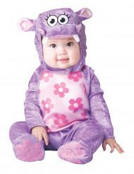 Violettes Nilpferd-Kostüm für Babys