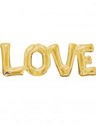 Goldener Alu-Luftballon LOVE