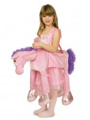 Rosa Pferdekostüm für Kinder