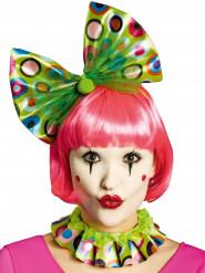Clown Kragen und Stirnband grün Erwachsene