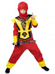 Gelb-rotes Ninjakostüm für Kinder