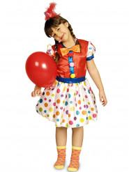 Buntes Clowns-Kostüm für Mädchen