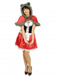 Rotkäppchen Kostüm mit Wolfsfell