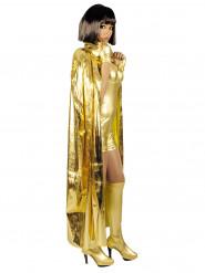 Goldener Umhang für Erwachsene 135 cm
