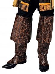 Braune Pirat Stiefelstulpen für Erwachsene