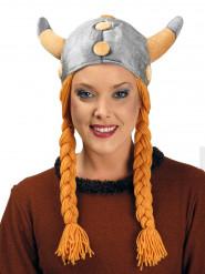 Wikinger-Helm mit Zöpfen