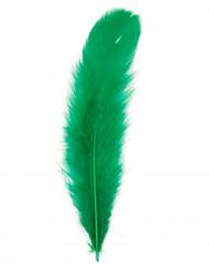 100er Set grüne Federn