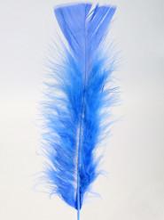 100 Federn Deko-Set blau
