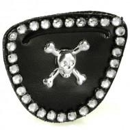 Piraten Augenklappe mit Strasssteinen