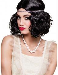 20er Perlen-Halskette für Damen weiß