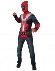 Kostüm T-Shirt mit Strumpfmaske Deadpool™