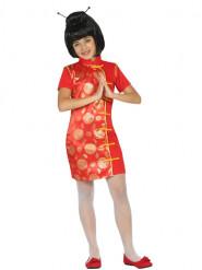 Chinesin Kostüm für Damen rot
