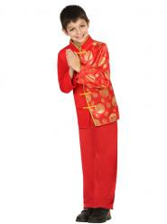 Chinesen Kostüm für Jungen rot