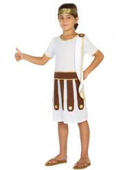 Römer-Jungenkostüm weiss-braun-goldfarben