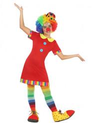 Rotes Clown Kostüm für Mädchen