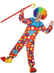 Gepunktetes Clownskostüm für Kinder Overall bunt