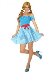 50er Jahre Kostüm für Damen blau